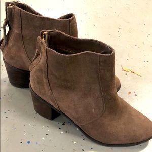 Women's suede booties - Size 8